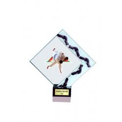 Trophée verre personnalisable 21cm
