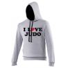 Sweat capuche I LOVE JUDO