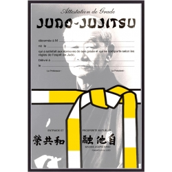 Diplômes Judo Jujitsu