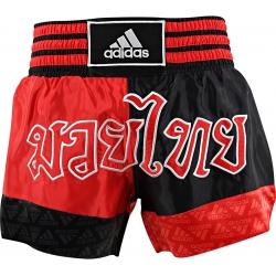 Short Adidas Boxe Thai Noir/Rouge