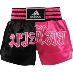 Short Adidas Boxe Thai Noir/Rose