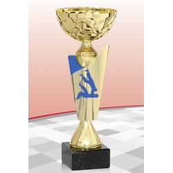 Coupe Economique  Judo Bleu 15 cm