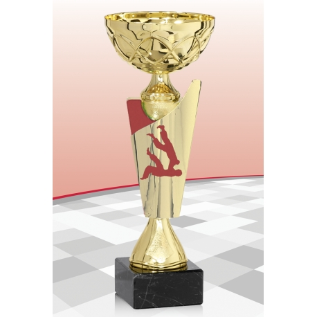 Coupe Economique  Judo Rouge 15 cm