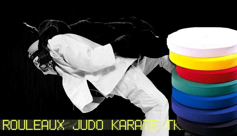 rouleaux de ceinture judo, karaté, tkd